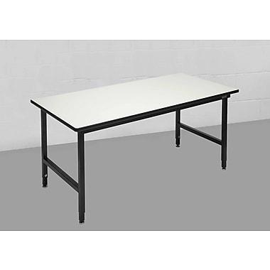 Calstone – Table d'emballage modulaire robuste, noir/argenté