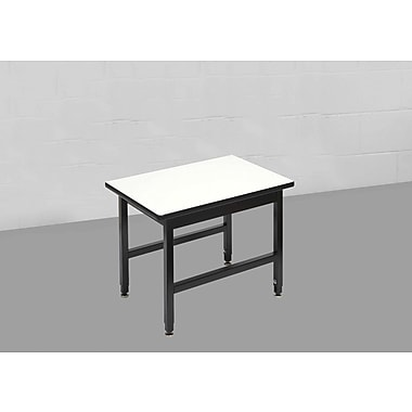 Calstone – Table d'appoint robuste, noir/argenté