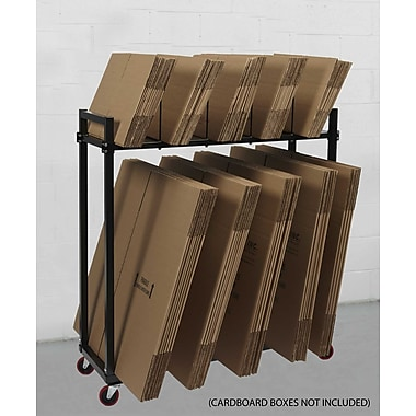 Calstone Multi-Level Carton Stand with Casters, 100 lbs, Black
