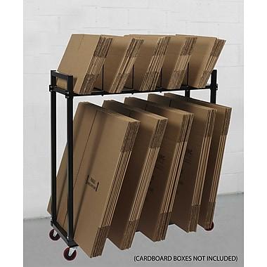 Calstone – Étagère à cartons à niveaux multiples avec roulettes, 100 lb, noir