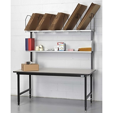Calstone Packing Station with Uprights, Black/Silver