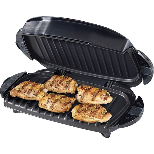 George Foreman® 5 Serving Removable Plate Grill, Black