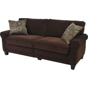 "Serta RTA Trinidad Collection, 78"" Fabric Sofa, Chocolate"