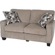 "Serta RTA San Paolo Collection, 61"" Fabric Loveseat Sofa, Platinum"