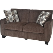 "Serta RTA San Paolo Collection, 61"" Fabric Loveseat Sofa, Mink Brown"