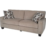 "Serta RTA Santa Cruz Collection, 73"" Fabric Sofa, Platinum"