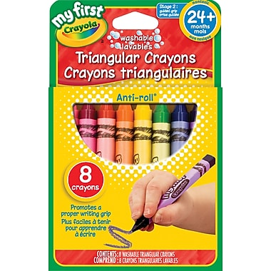 Crayola® My First Washable Triangular Crayons, 8/Pack