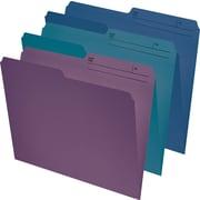 StaplesMD – Chemises de classement au format lettre, couleurs variées (marine, bourgogne, sarcelle), 25/paquet