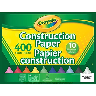 Crayola® Construction Paper, 10 Colours, 400 Sheets