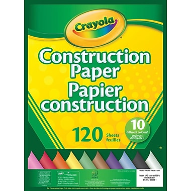 Crayola® Constuction Paper, 10 Colours, 120 Sheets