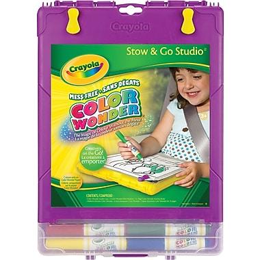 Crayola® - Système d'encre et de peinture Color Wonder Stow N Go Studio