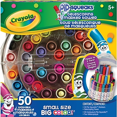 Crayola Telescoping Marker Tower, 50/Pack