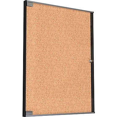 Best Rite Ultra Enclosed Bulletin Board Cabinet 37 1/8