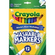 Crayola® Washable Marker, Assorted Colors, 12/Pack