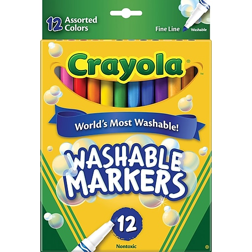 crayola washable marker assorted colors 12 pack staples