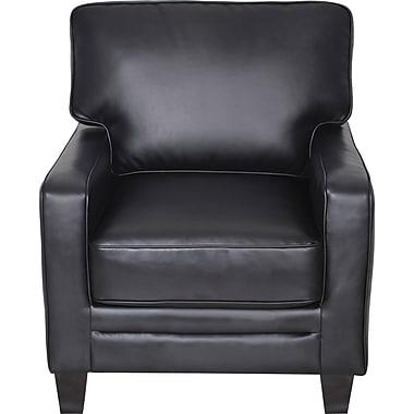 Serta RTA Santa Rosa Collection Leather Accent Chair, Black