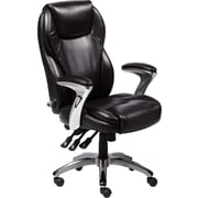 Serta Ergo Leather Computer and Desk Office Chair, Fixed Arms, Black (43676)