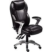 Serta Ergo-Executive Office Chair, Bonded Leather, Black