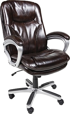 Serta Executive Big And Tall PureSoft Faux Leather Office Chair, Roasted  Chestnut. Rollover Image To Zoom In. Https://www.staples 3p.com/s7/is/