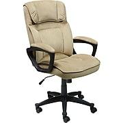 "Serta Executive Office Chair, Microfiber, Light Beige, Seat Size: 20.75''W x 19.5""D, Back Size: 20.25""W x 26.50""H"