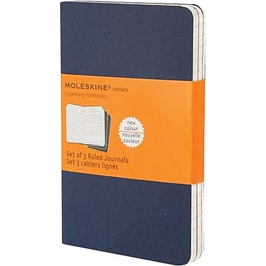 Moleskine® Cahier Pocket Ruled Journal, Blue, 3 - 1/2