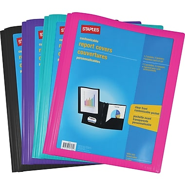 Staples® Customizable Report Covers, Assorted Fashion Colors