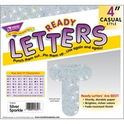 TREND Silver Sparkle 4 - Inch Casual Uppercase Ready Letters