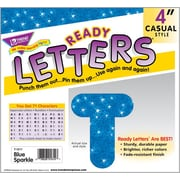 TREND Blue Sparkle 4 - Inch Casual Uppercase Ready Letters