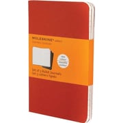 "Moleskine Cahier Pocket Ruled Journal, Red, 3 - 1/2"" x 5 - 1/2"""