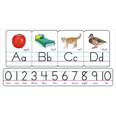 TREND Photo Alphabet Zaner - Bloser Manuscript Bulletin Board Set