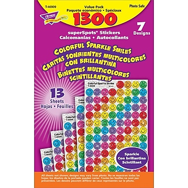 TREND Colorful Sparkle Smiles superSpots® Stickers Value Pack