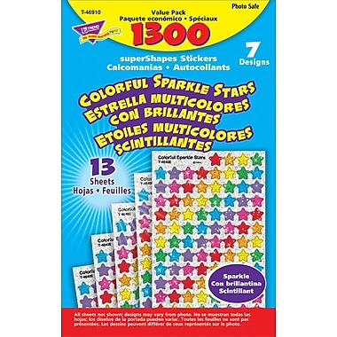 TREND Colorful Sparkle Stars superShapes Stickers Value Pack