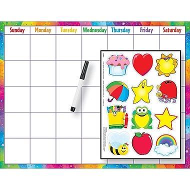 TREND Reusable Calendar Cling (Cling Accents) Wipe - Off® Kit