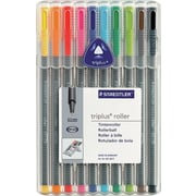 Staedtler® Staedtler Triplus Rollerball Pens, 10/Pack, Assorted Colours