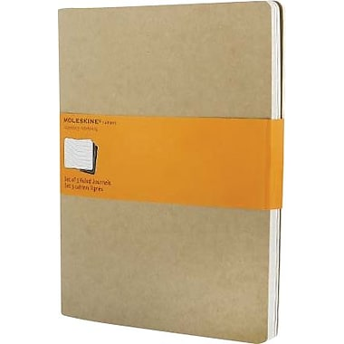 Moleskine® Cahier Extra - Large Ruled Journal, Kraft, 7 - 1/2