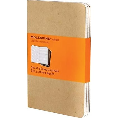 Moleskine® Cahier Pocket Ruled Journal, Kraft, 3 - 1/2
