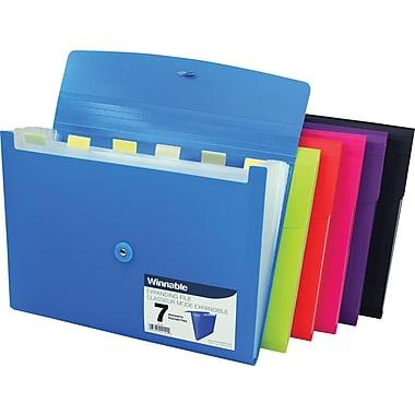 Winnable® 7 Pocket Expanding Poly File