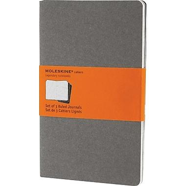 Moleskine® Cahier Large Ruled Journal, Light Warm Grey, 5