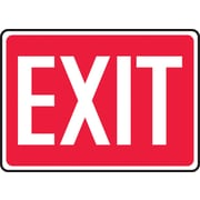 "Accuform Signs® 10"" x 14"" Plastic Safety Signs ""EXIT"""