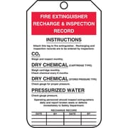 "Accuform Signs® 5 3/4"" x 3 1/4"" PF-Cardstock Fire Inspection Tag ""FIRE.."", Red/Black On White"