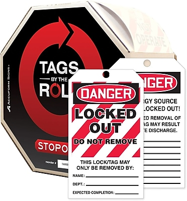 Accuform Signs® Tags By-The-Roll™ 6 1/4