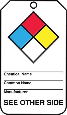 Accuform Signs® PF-Cardstock Hazardous Material Tag