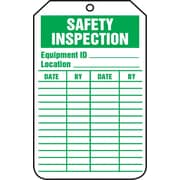 "Accuform Signs® 5 3/4"" x 3 1/4"" RP-Plastic Status Tags ""SAFETY.."", Green On White"