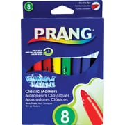 Prang® (Dixon Ticonderoga®) Washable Art Markers, Bullet Tip, Assorted Colors, 8/Set