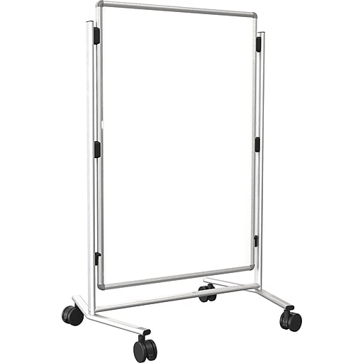 "Modifier XV Height Adjustable Easel, Melamine, 40"" x 30"", Silver"
