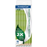 Staedtler Wopex Pre-Sharpened HB#2 Eco Pencils, 18/Pack