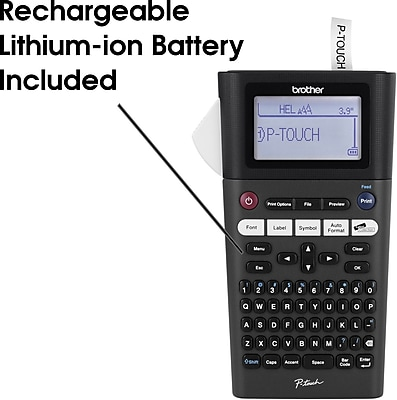 Brother PTH300LI Label Maker with Rechargeable Li-Ion Battery