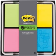 "Post-it® 3"" x 3"" Flat Dispenser, Evernote Collection, Quad"