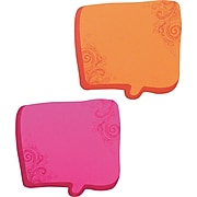 Redi-Tag Thought Bubble Notes, 2 3/4 x 2 3/4, Magenta/Orange, 75-Sheet Pads, 2-Pads/ST (22100)