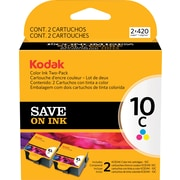 Kodak 10C Tri-color Ink Cartridges (1829993) Multi-pack (2 cart per pack)